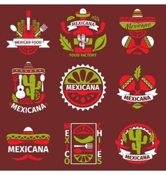 Mexican food grunge rubber stamps vector image