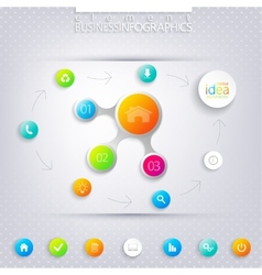 Modern infographic network template with place for vector image