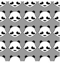 Panda bear cute animal seamless pattern vector