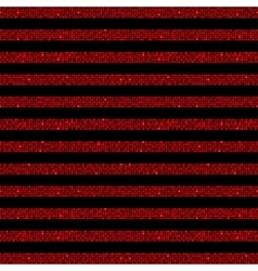 Parallel Horizontal lines Red sequins Stars vector