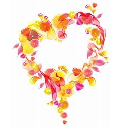 pink wave heart vector image