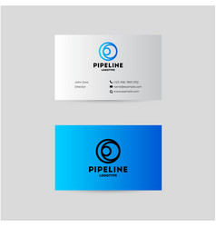 Pipes logo and branding identity vector