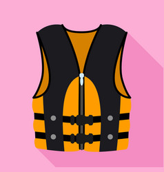 Rafting vest icon flat style vector
