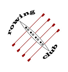 Rowing club emblem in vector