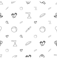 Rubber icons pattern seamless white background vector