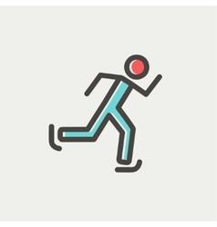 Running man thin line icon vector image