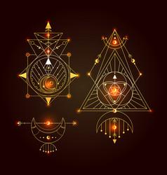 sacred geometry set good vector image