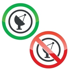 Satellite dish permission signs vector