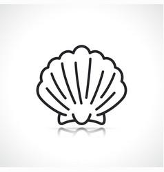 scallop or sea shell icon vector image