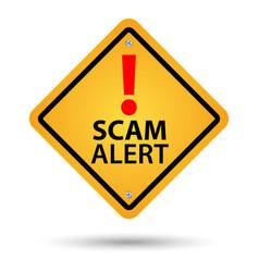 scam alert sign vector image