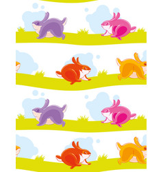 seamless pattern with funny colored painted vector image
