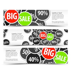 Set of big sale horizontal banners vector image