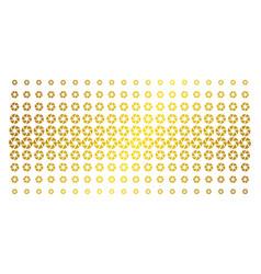 shutter golden halftone pattern vector image