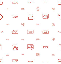 Special icons pattern seamless white background vector