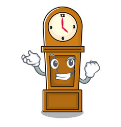 Successful grandfather clock character cartoon vector