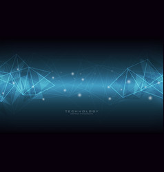 technology abstract geometric background vector image