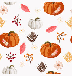 thanksgiving seamless background vector image