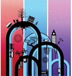 The city vector image