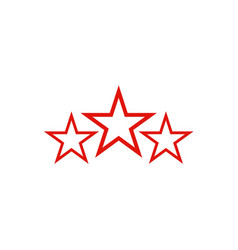 Three star logo vector
