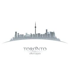 Toronto Ontario Canada city skyline silhouette vector