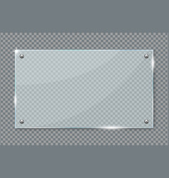 transparent glass plate hanging on wall vector image