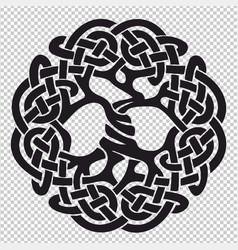 Tree of life pagan symbol vector