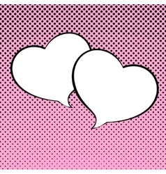 Two Speech Bubble Heart Shaped vector