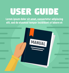 User guide manual concept banner flat style vector