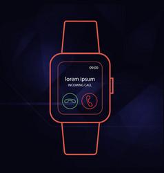 Wearable watch outline vector