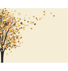 yellow autumn tree autumn background vector image