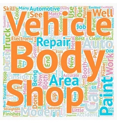 Your Modern Auto Body Repair Shop text background vector image