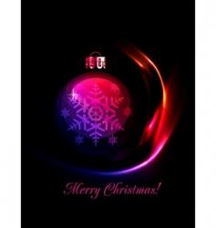 Christmas decoration stylized ball vector image vector image