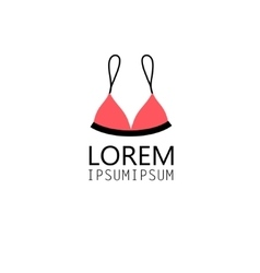 graphic symbol bra swimsuit vector image