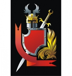 heraldic composition vector image