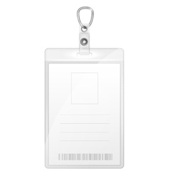 Plastic Badge For Person Identification vector image