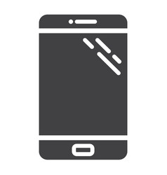 Smartphone solid icon phone and touch screen vector