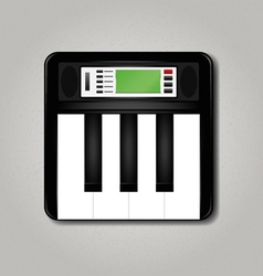 Synthesizer square vector image