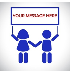 The message from the children vector image vector image