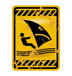 windsurf area sign vector image vector image