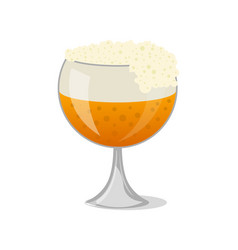 glass of beer isolated icon in cartoon style vector image vector image