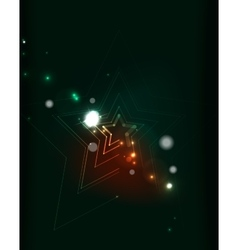 Glowing star in dark space vector image