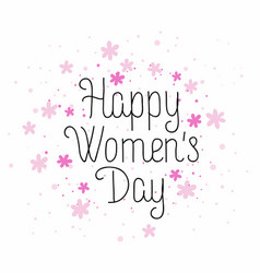 happy womens day card vector image vector image