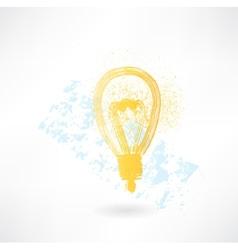 lightbulb grunge icon vector image