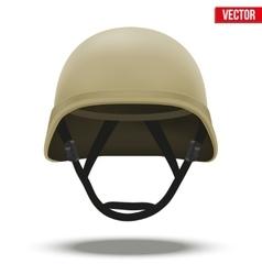 Military tactical helmet desert color vector image vector image