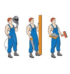set builders vector image