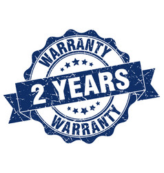 2 years warranty stamp sign seal vector image