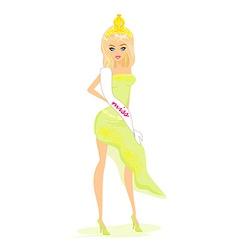 beauty queen vector image vector image