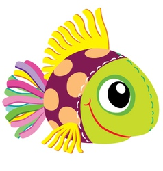 fish soft toy vector image vector image