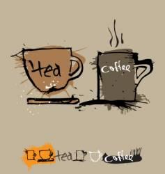 Ink coffee cup vector