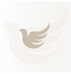 isolated abstract bronze color birds silhouettes vector image vector image